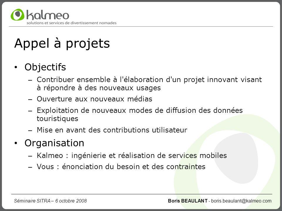 Appel à projets Objectifs Organisation