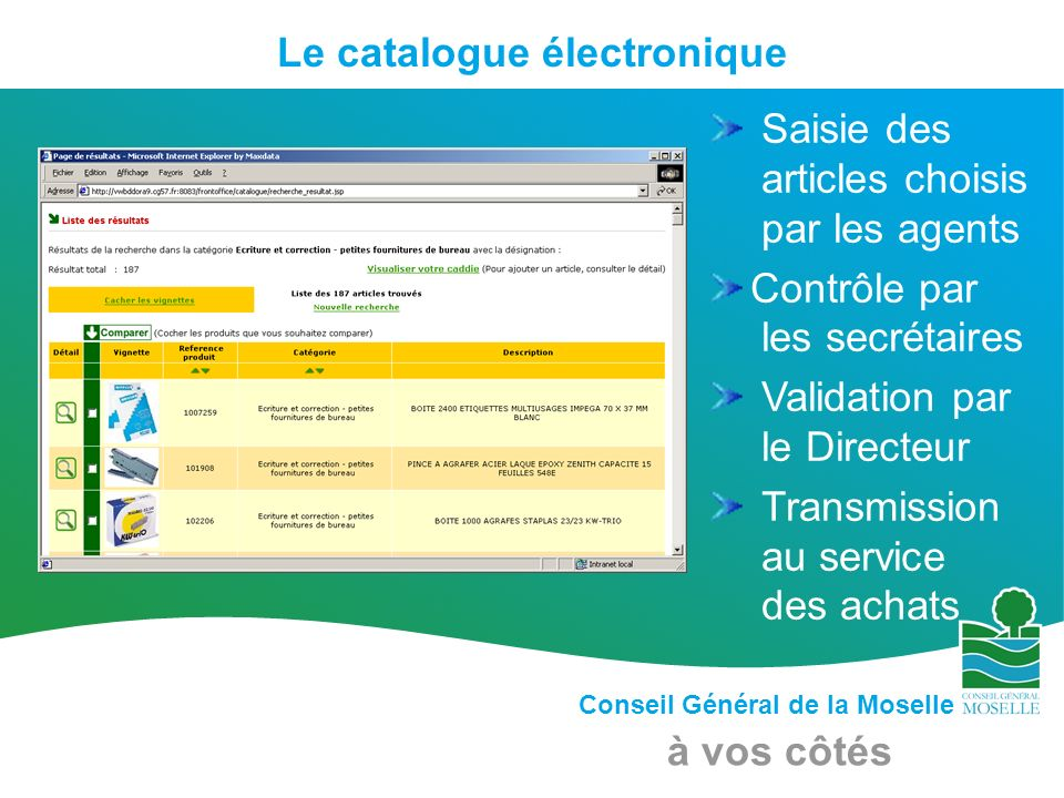 Le catalogue électronique