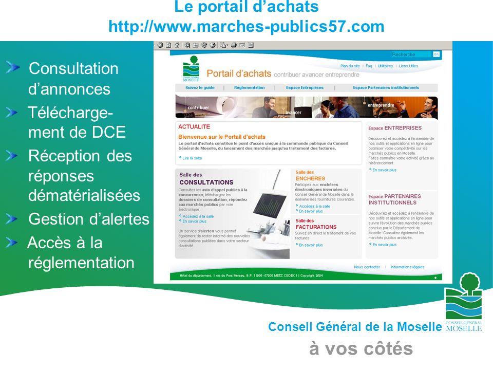 Le portail d'achats http://www.marches-publics57.com