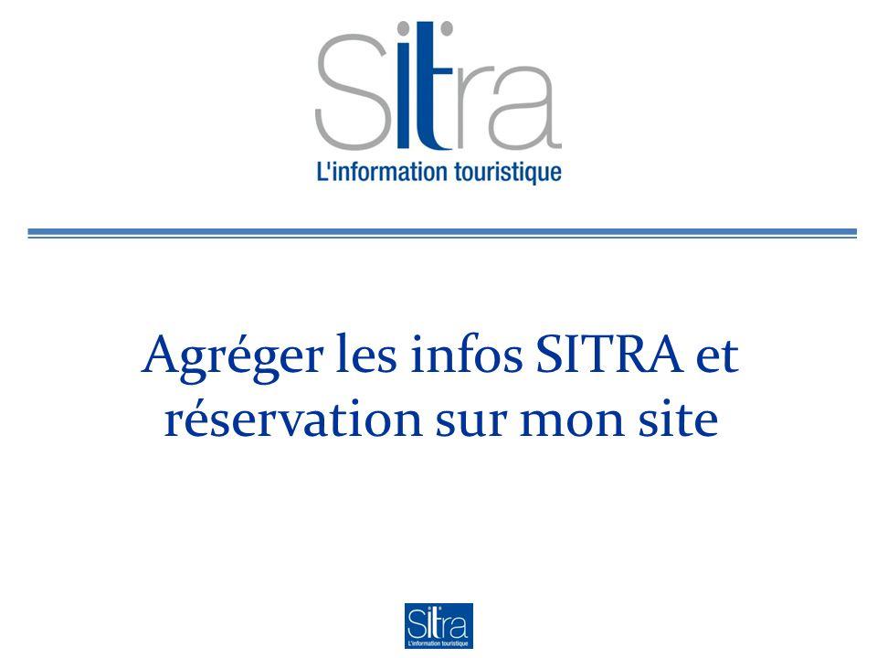 Agréger les infos SITRA et réservation sur mon site