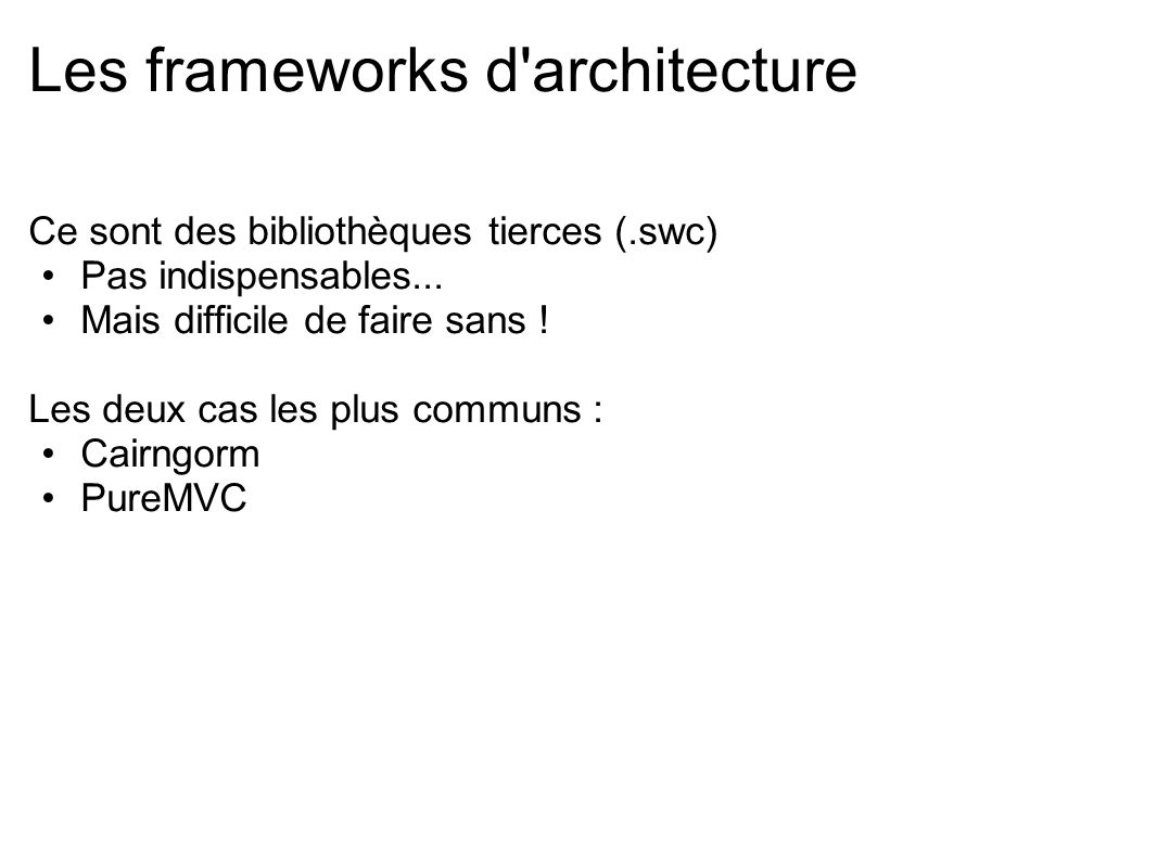 Les frameworks d architecture