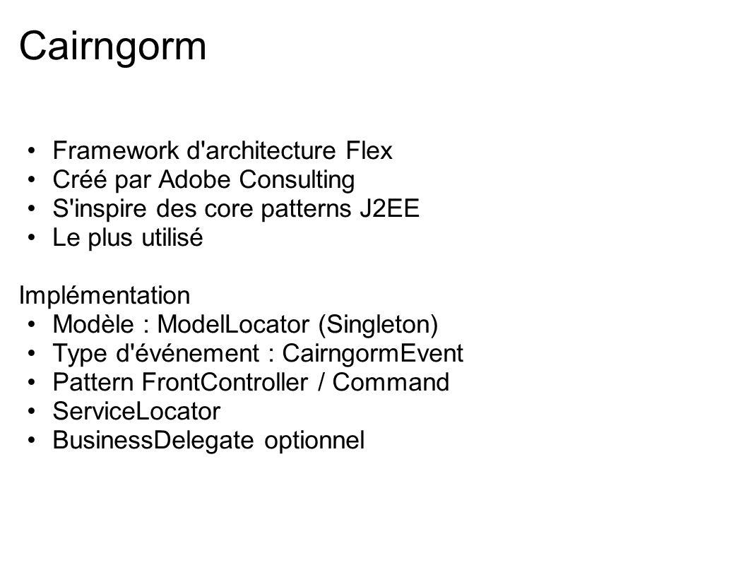 Cairngorm Framework d architecture Flex Créé par Adobe Consulting