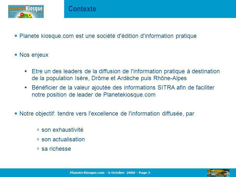 Contexte Planete kiosque.com est une société d édition d information pratique. Nos enjeux.