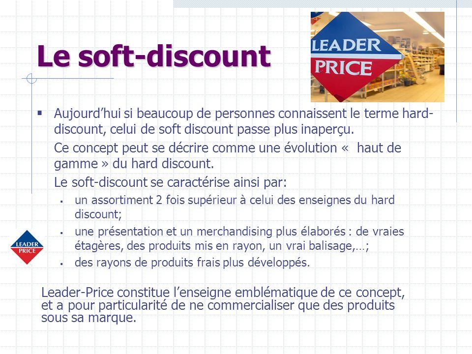 Le soft-discount Aujourd'hui si beaucoup de personnes connaissent le terme hard-discount, celui de soft discount passe plus inaperçu.