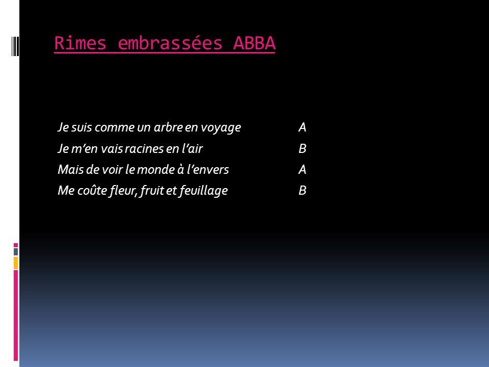 Rimes embrassées ABBA
