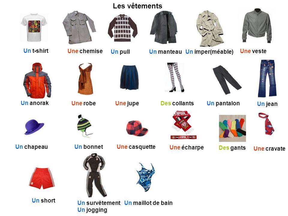 Les v tements un t shirt une chemise un pull un manteau - Les vetements d hiver ...