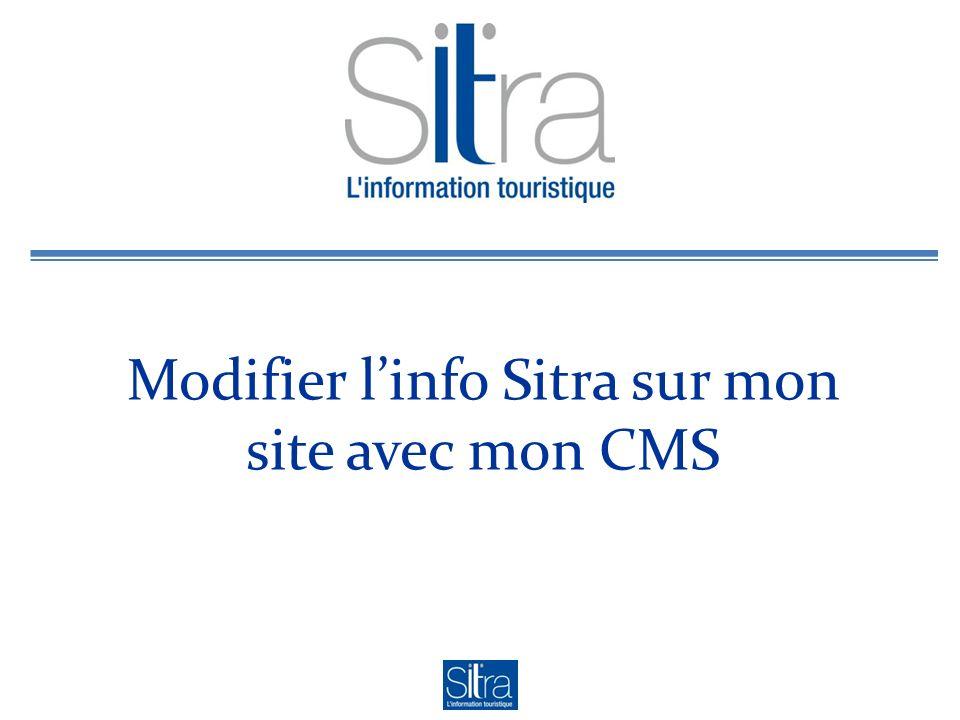 Modifier l'info Sitra sur mon site avec mon CMS