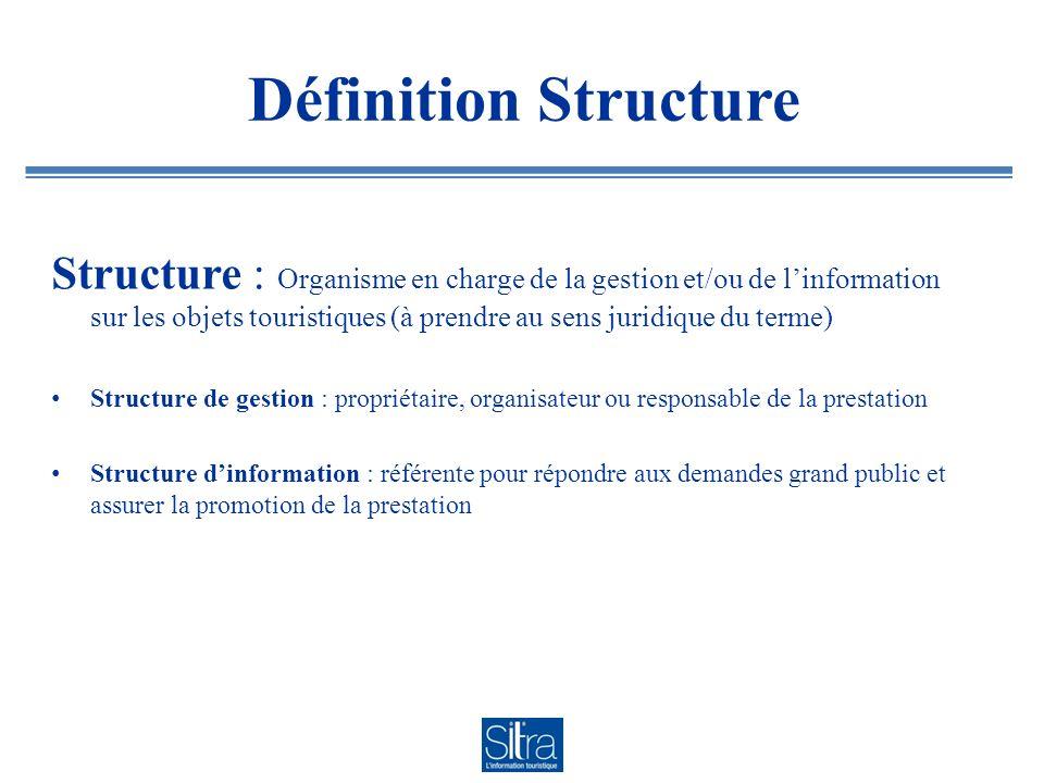 Définition Structure