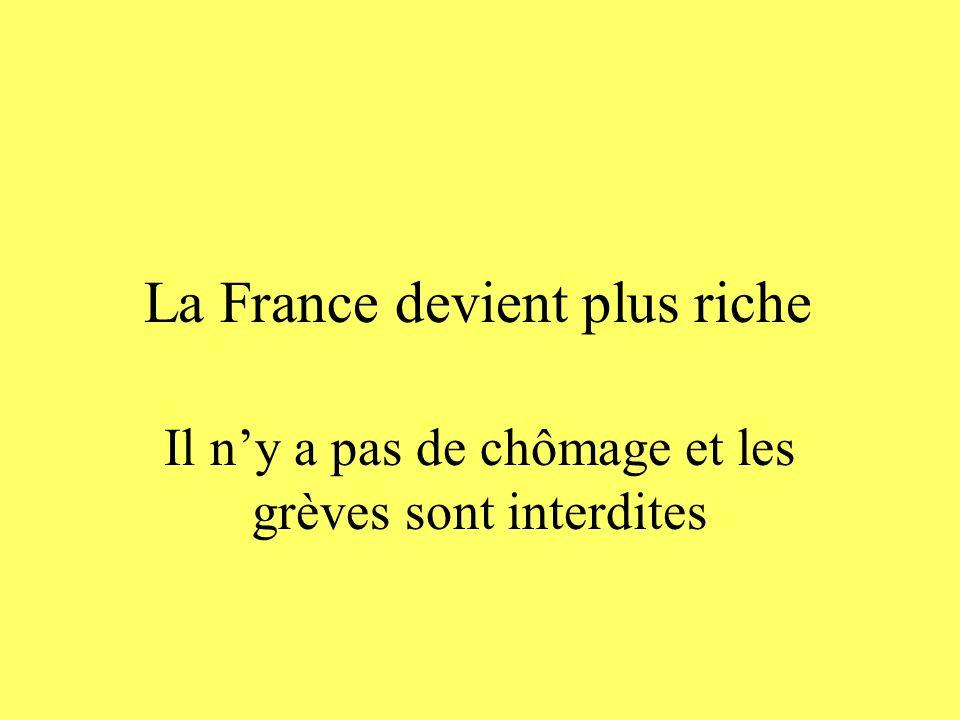 La France devient plus riche