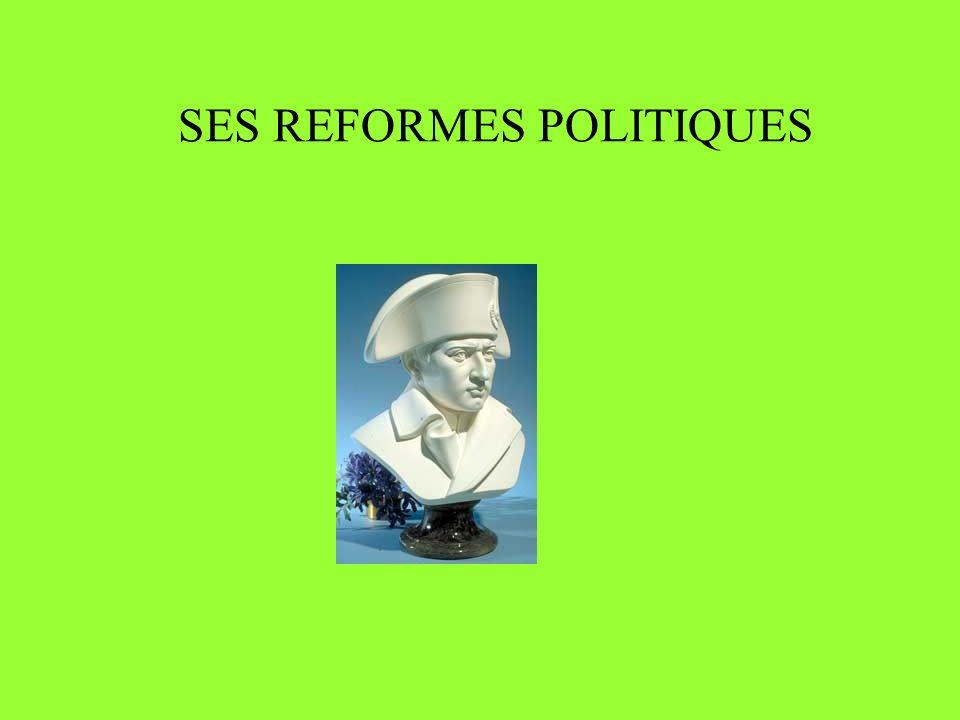 SES REFORMES POLITIQUES