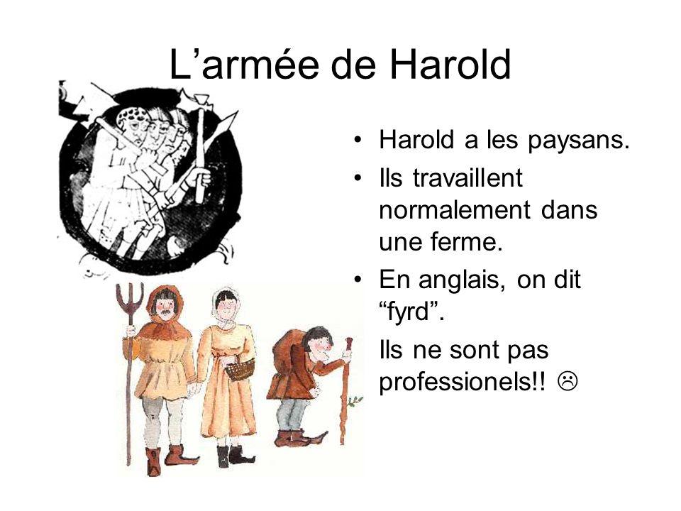 L'armée de Harold Harold a les paysans.
