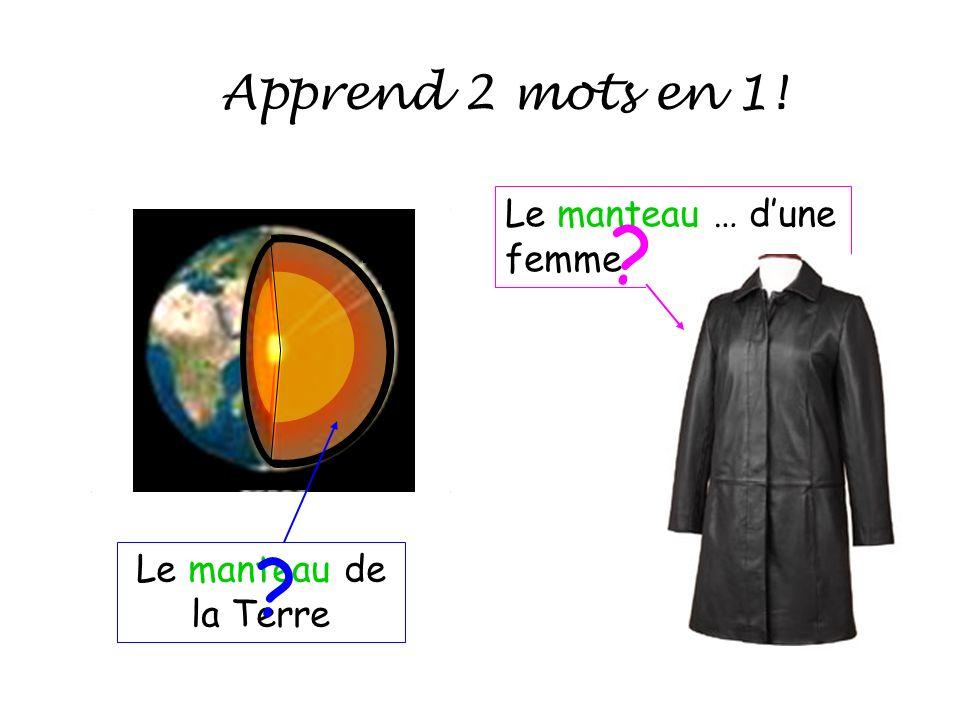 Apprend 2 mots en 1! Le manteau … d'une femme
