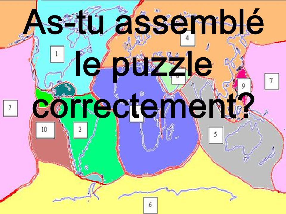 As-tu assemblé le puzzle correctement