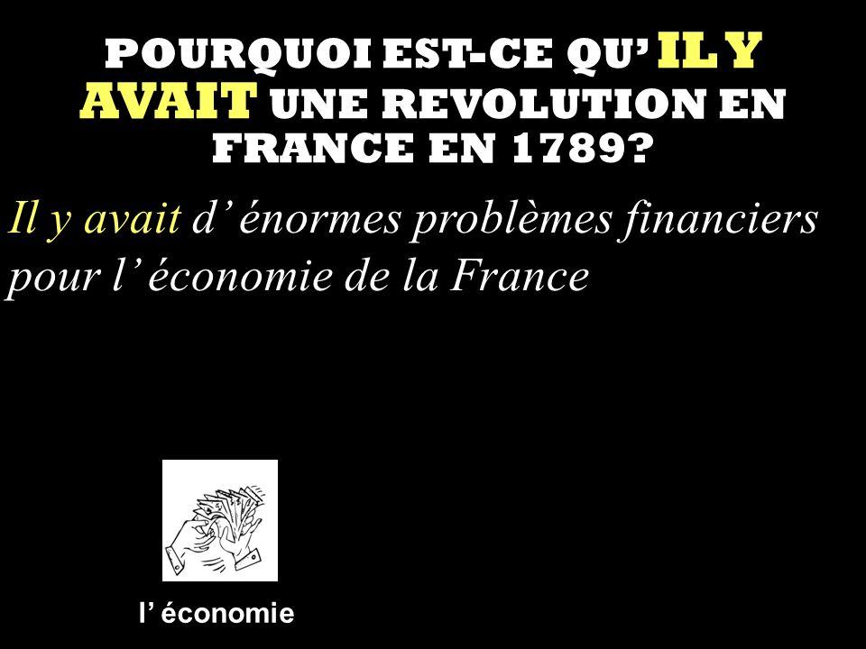 POURQUOI EST-CE QU' IL Y AVAIT UNE REVOLUTION EN FRANCE EN 1789