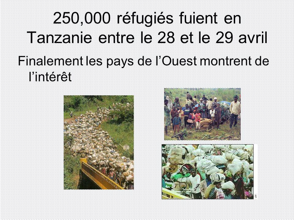 250,000 réfugiés fuient en Tanzanie entre le 28 et le 29 avril