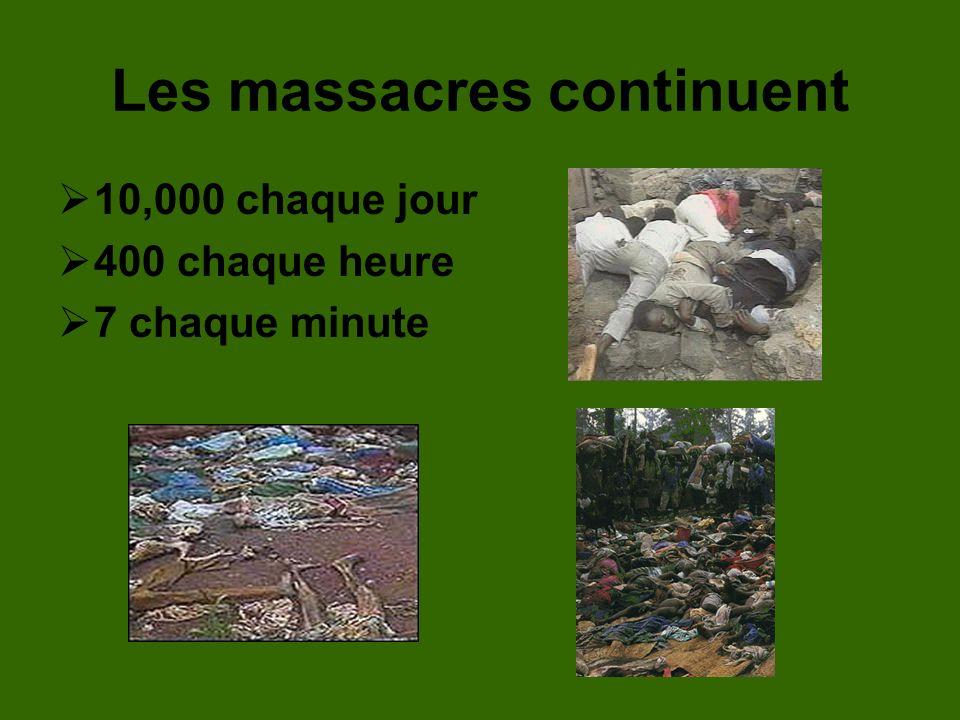 Les massacres continuent