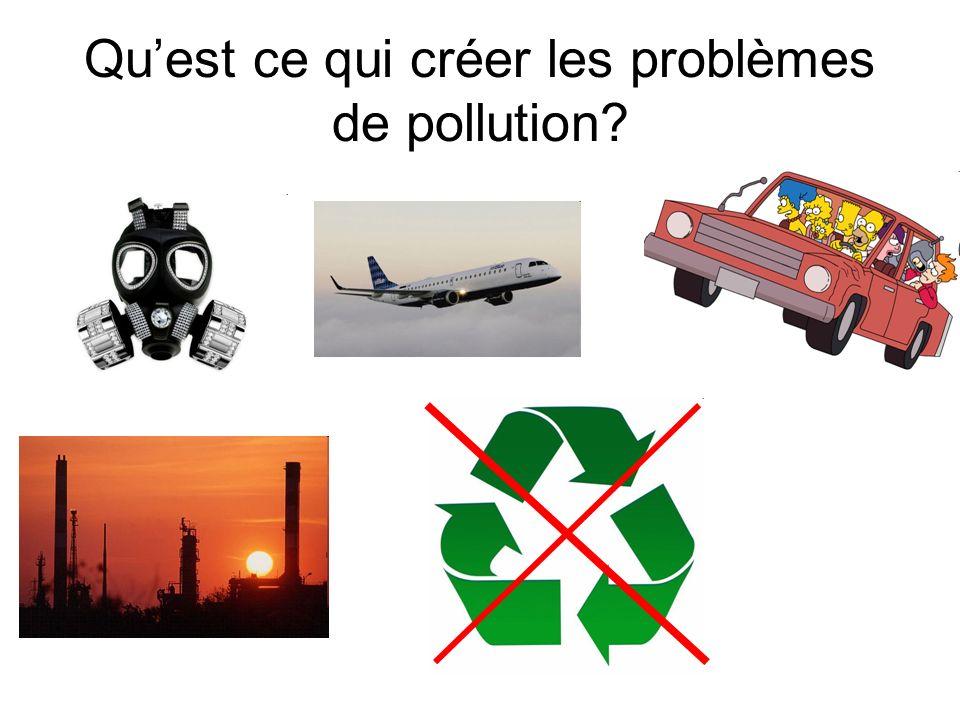 Qu'est ce qui créer les problèmes de pollution