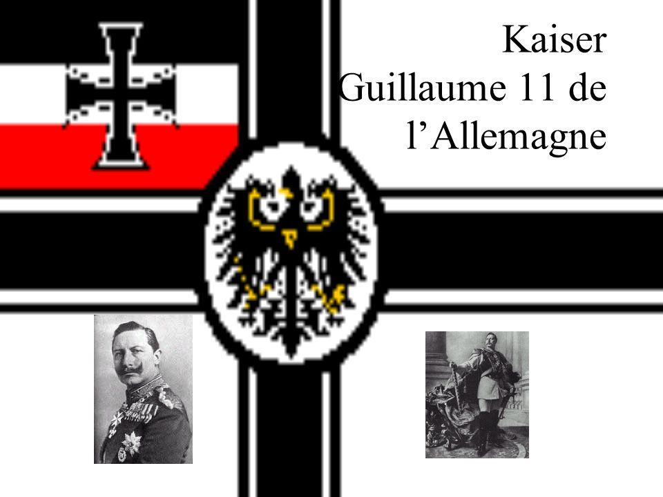 Kaiser Guillaume 11 de l'Allemagne