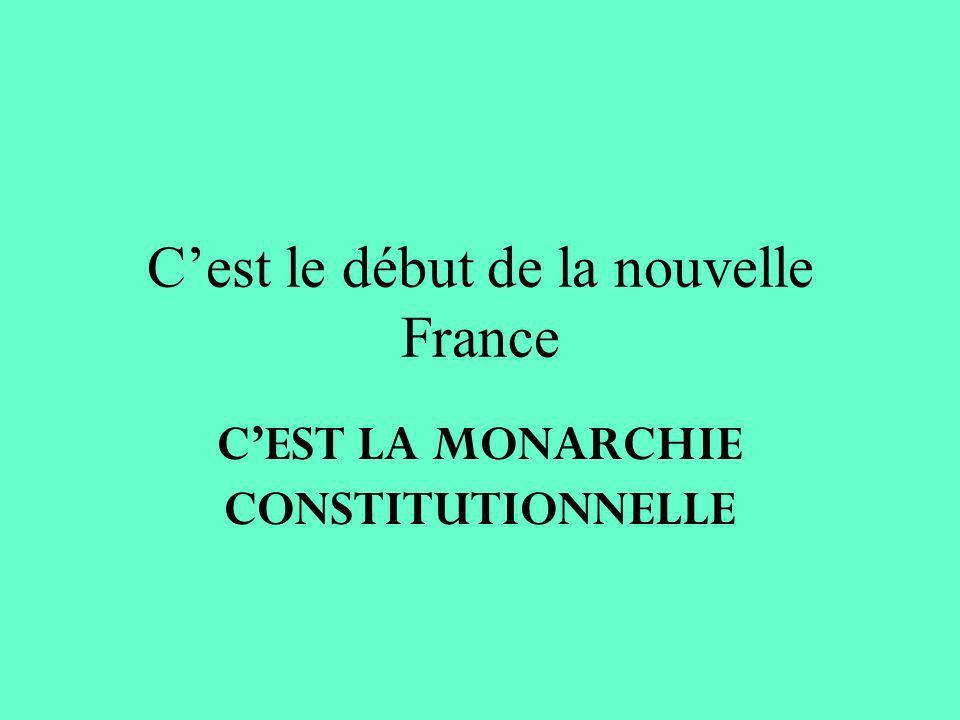 C'est le début de la nouvelle France