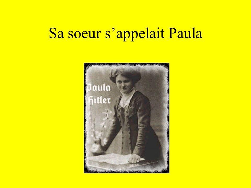Sa soeur s'appelait Paula