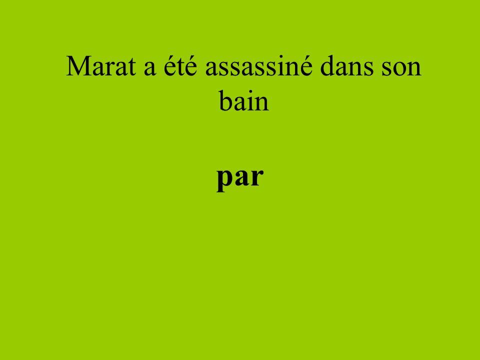 Marat a été assassiné dans son bain