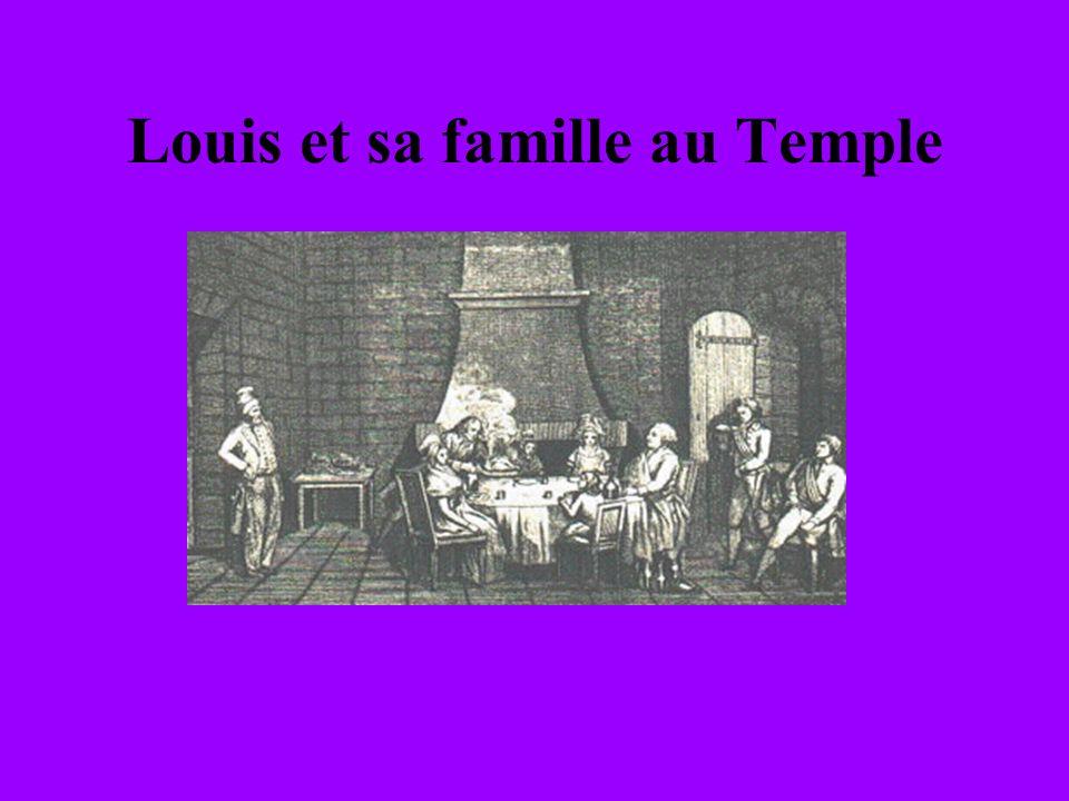 Louis et sa famille au Temple