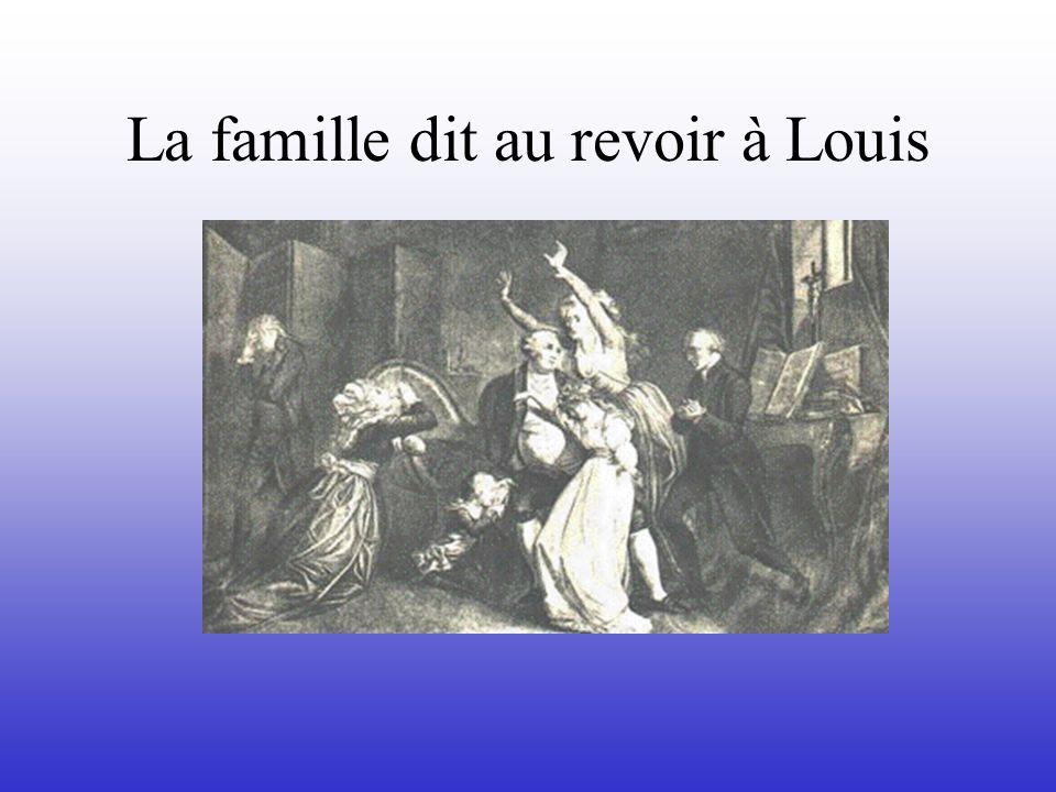 La famille dit au revoir à Louis