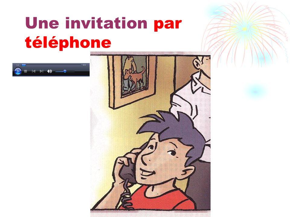 Une invitation par téléphone