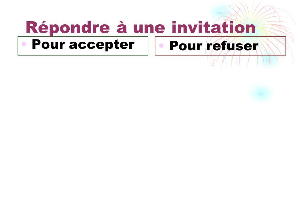 Répondre à une invitation
