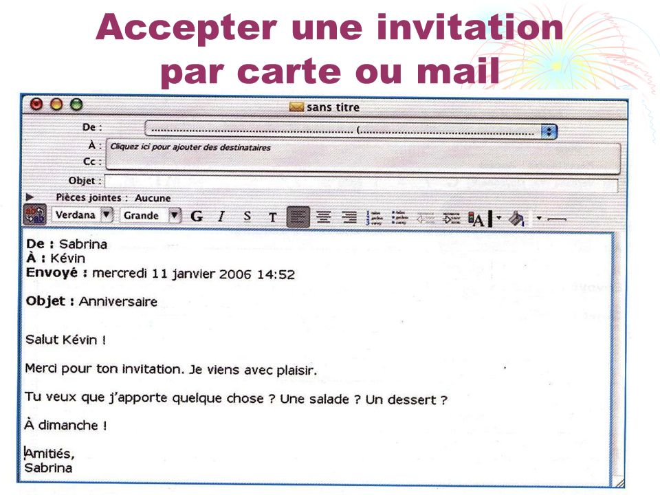 Accepter une invitation par carte ou mail