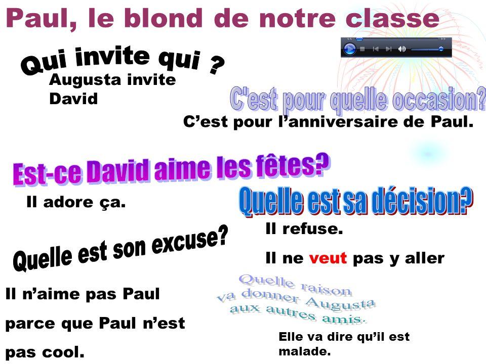Paul, le blond de notre classe