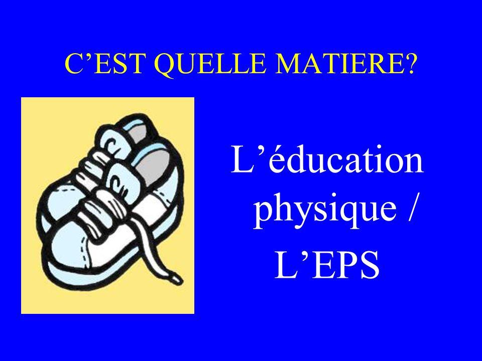 L'éducation physique /