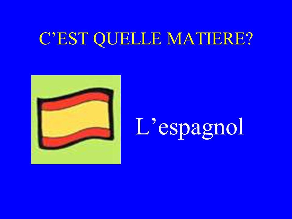C'EST QUELLE MATIERE L'espagnol