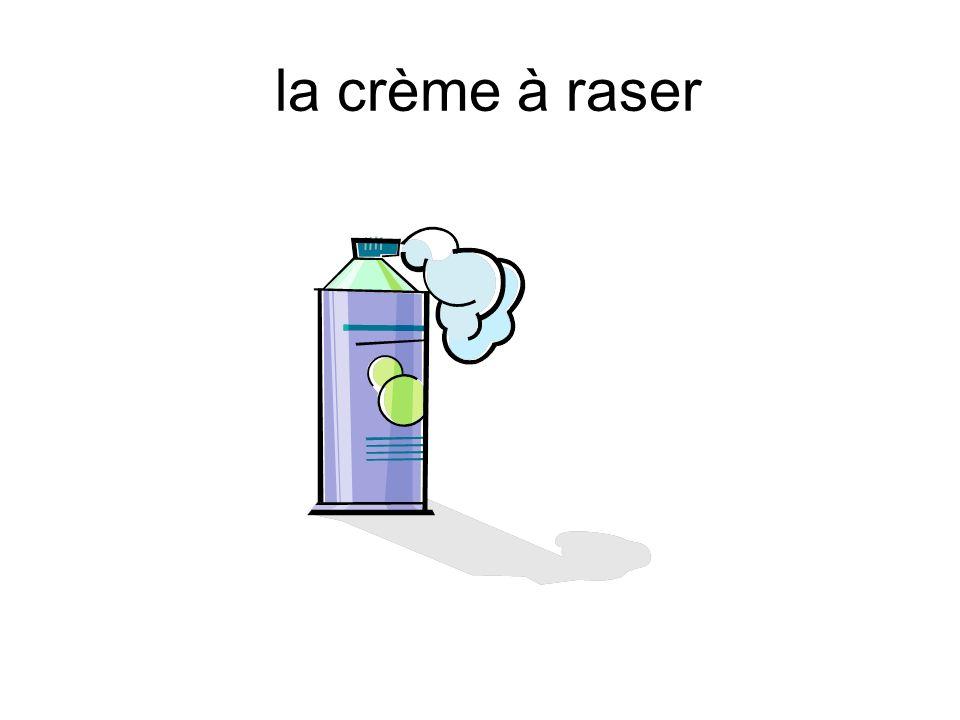la crème à raser