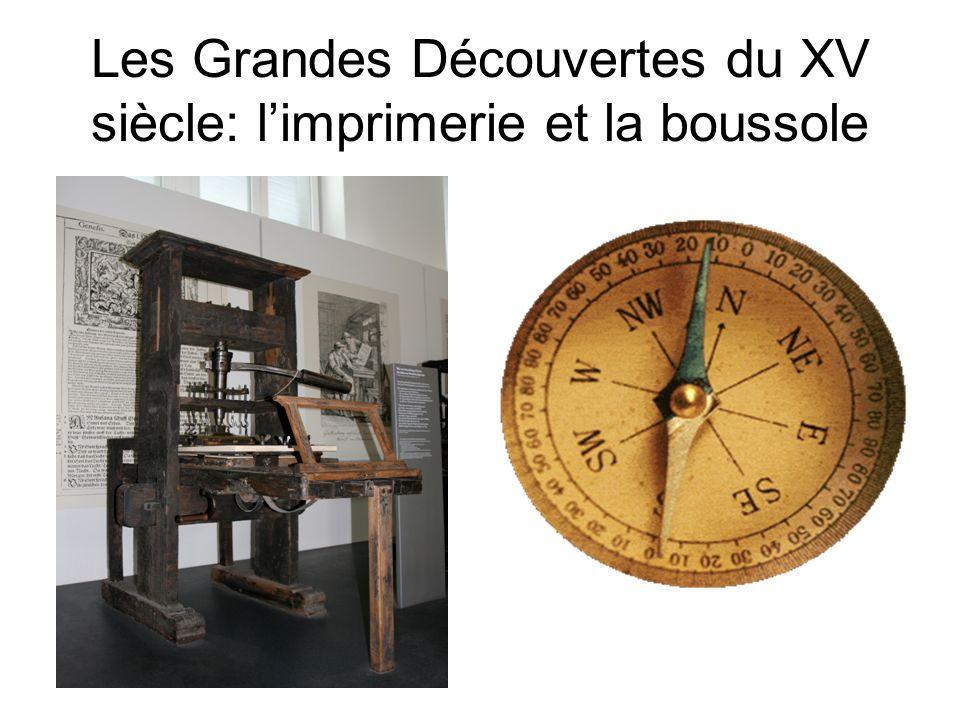 Les Grandes Découvertes du XV siècle: l'imprimerie et la boussole
