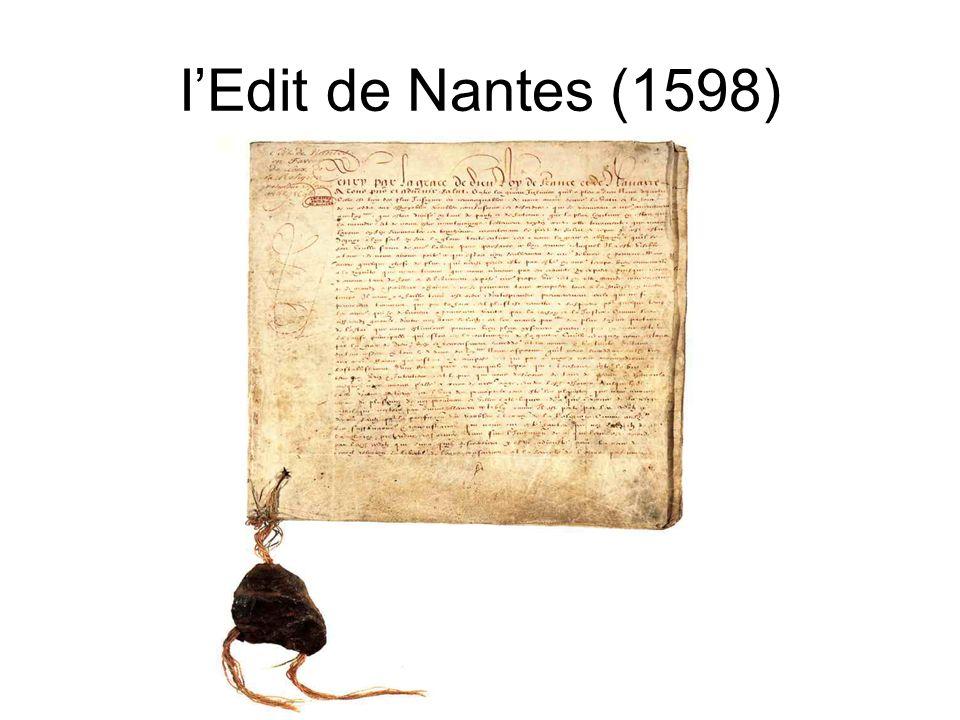 I'Edit de Nantes (1598)