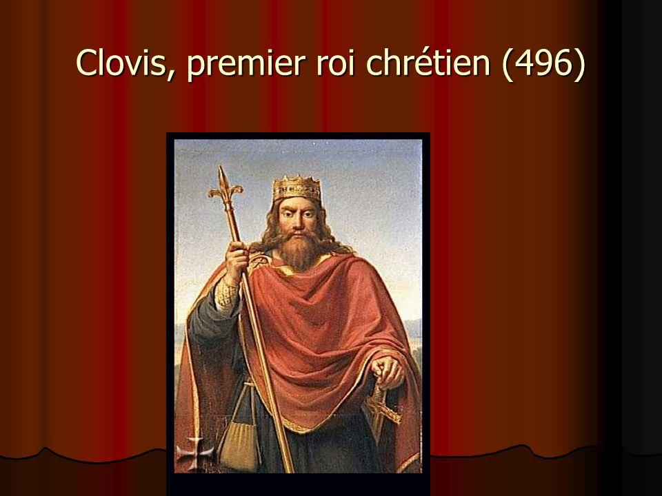Clovis, premier roi chrétien (496)