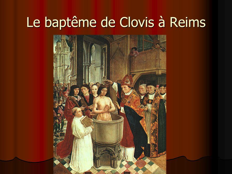 Le baptême de Clovis à Reims