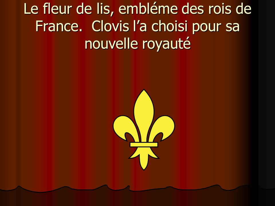 Le fleur de lis, embléme des rois de France