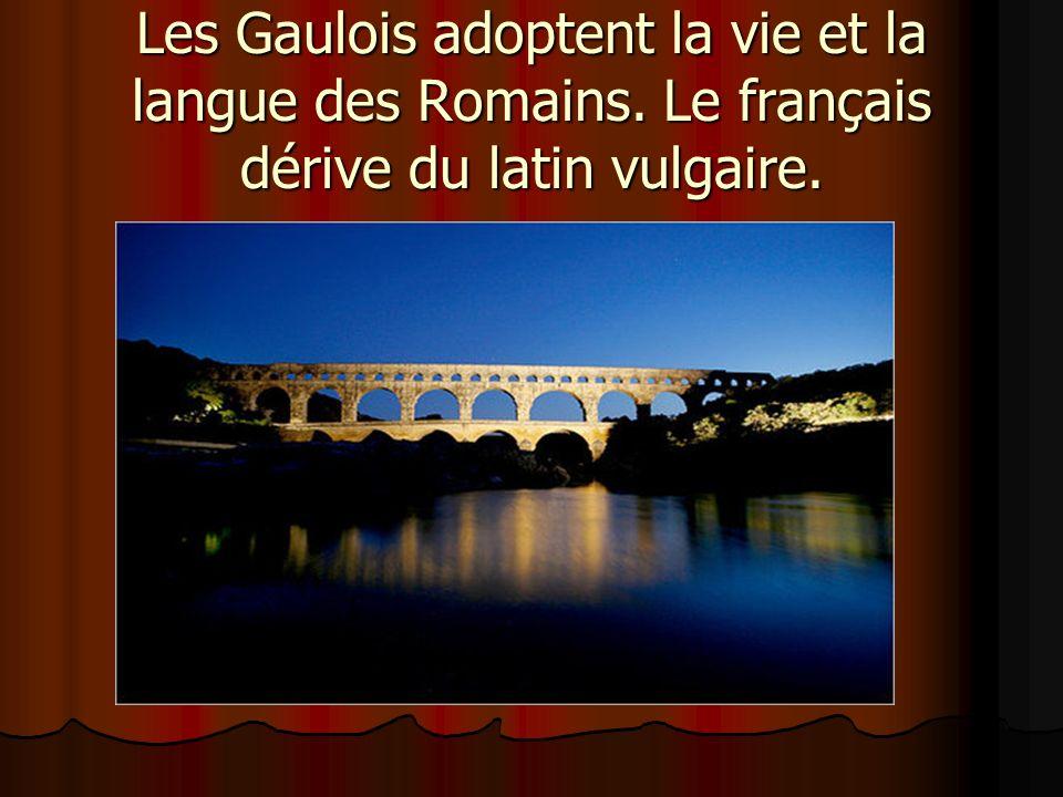 Les Gaulois adoptent la vie et la langue des Romains