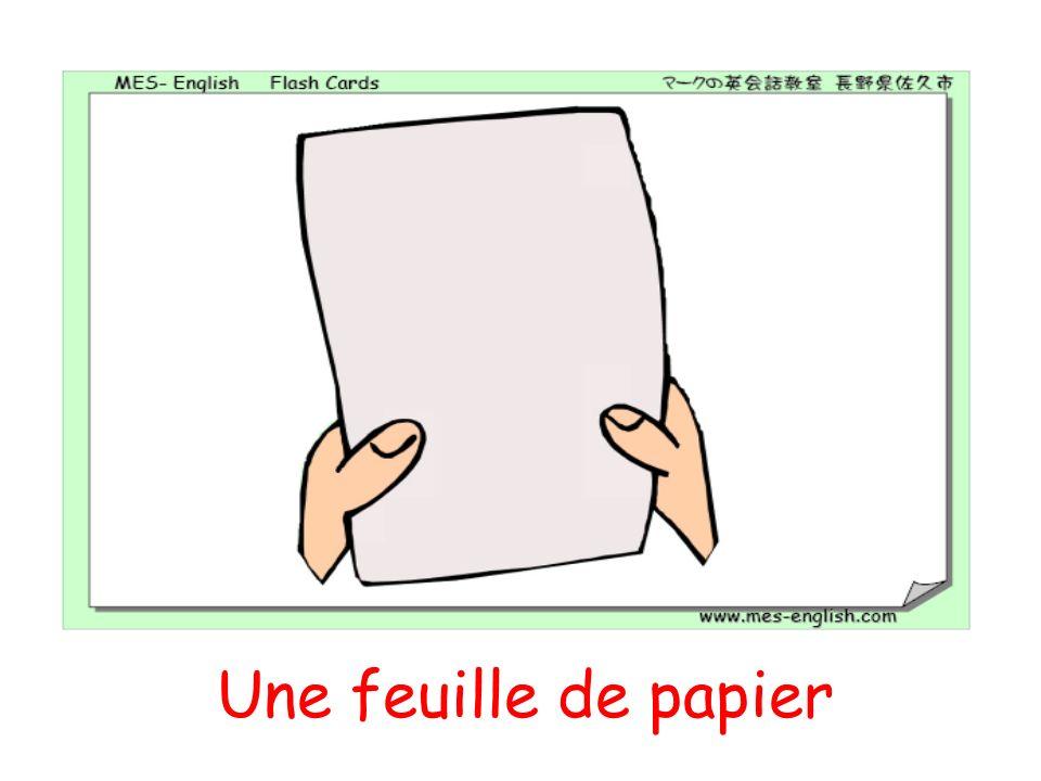 Une feuille de papier