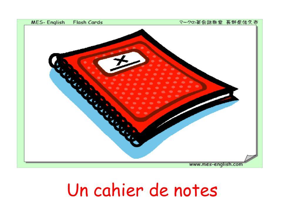 Un cahier de notes