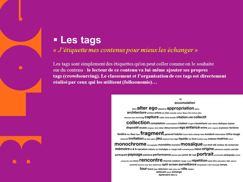 Les tags « J'étiquette mes contenus pour mieux les échanger »