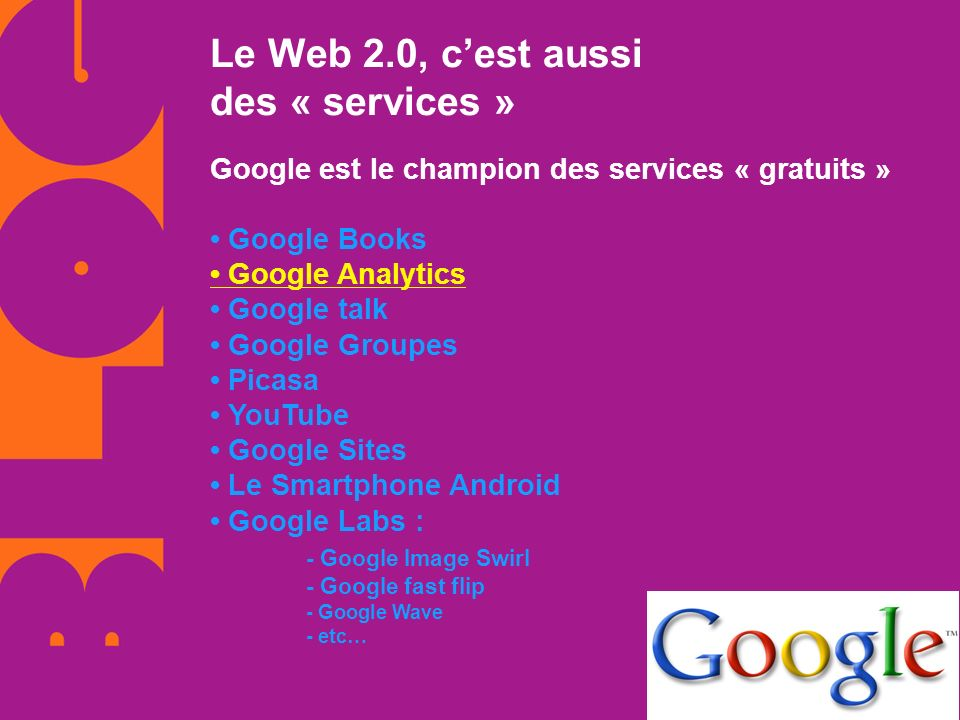 Le Web 2.0, c'est aussi des « services »