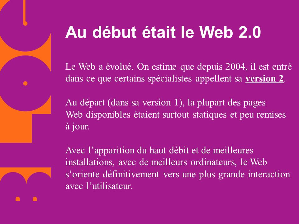 Au début était le Web 2.0