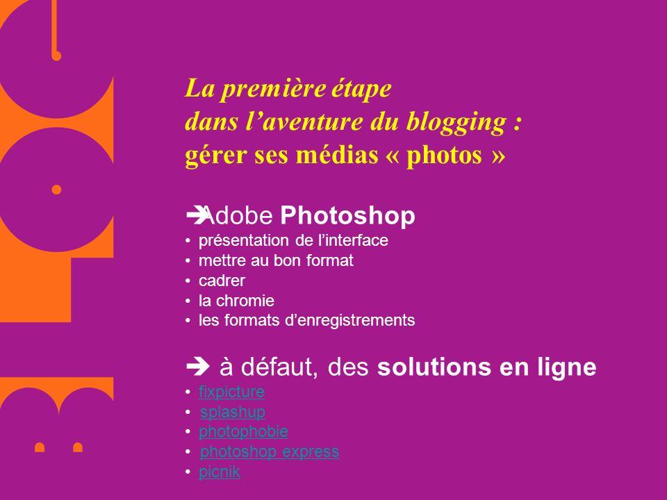 La première étape dans l'aventure du blogging : gérer ses médias « photos »