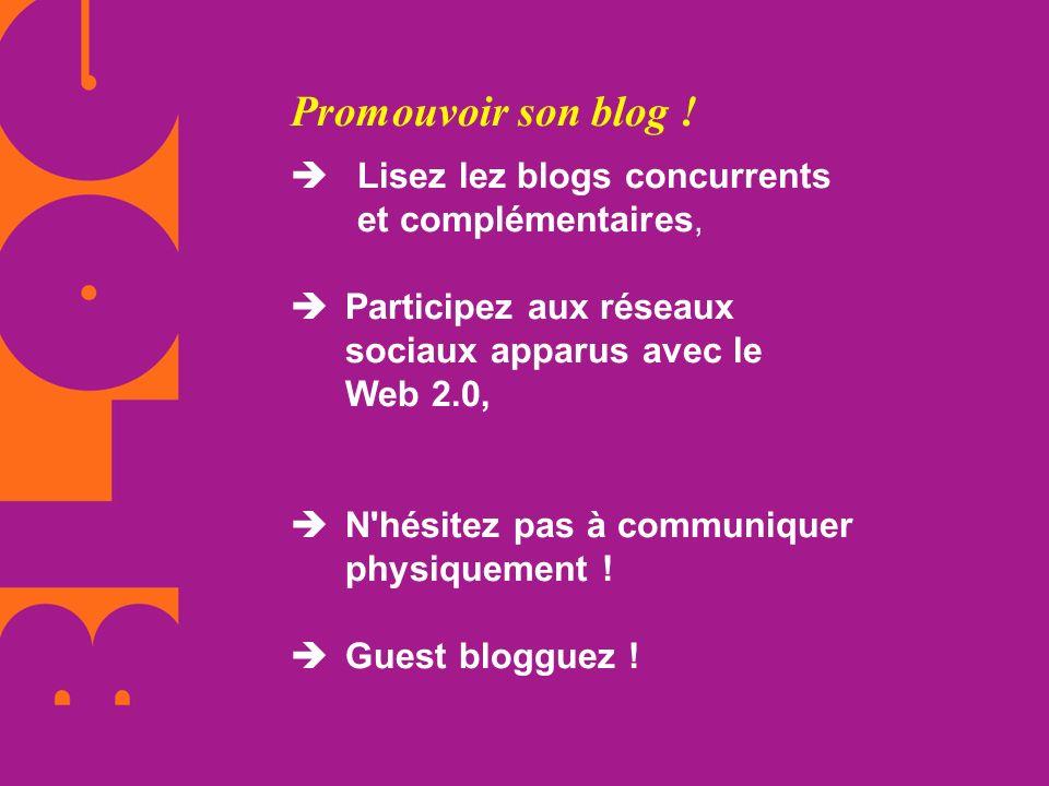 Promouvoir son blog !