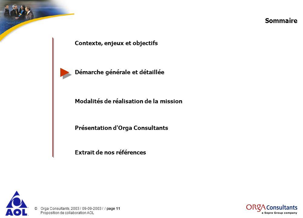 Sommaire Contexte, enjeux et objectifs Démarche générale et détaillée