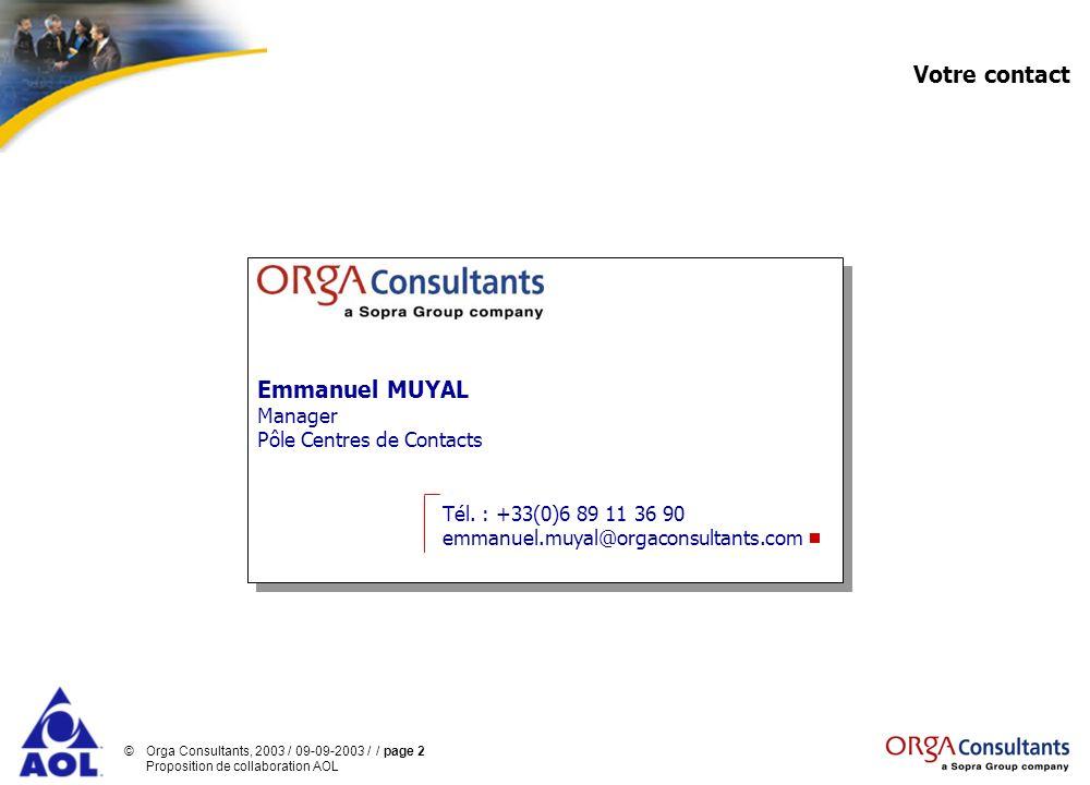 Votre contact Emmanuel MUYAL Manager Pôle Centres de Contacts