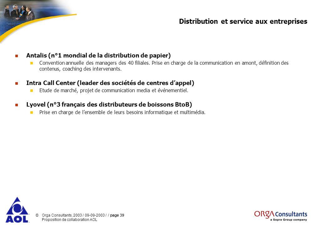 Distribution et service aux entreprises